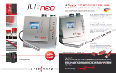 Leibinger Jet2Neo 4-Page Flyer and Tech Specs